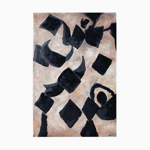 Großes Mid-Century Abstraktes Gemälde von Antoni Adamski