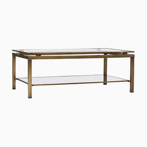 Mid-Century Brass 2-Tier Coffee Table, 1970s