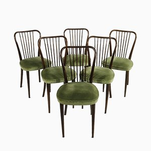 Baumann Side Chairs, France, 1950s, Set of 6