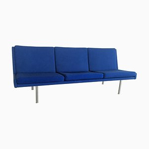 Airport Sofa in Blue Fabric by Hans J. Wegner for A.P. Stolen, 1960s