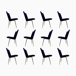 Airport Chairs by Hans J. Wegner for A.P. Stolen, 1960s, Set of 12