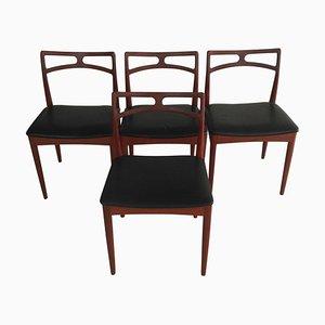 Chaises de Salon en Teck par Johannes Andersen pour Christian Linneberg, Danemark, 1960s, Set de 4