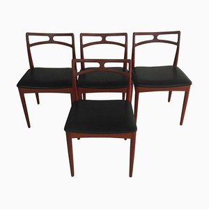 Danish Dining Chairs in Teak by Johannes Andersen for Christian Linneberg, 1960s, Set of 4