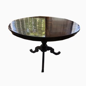 Antique Inlaid Wooden Extendable Dining Table