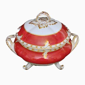Napoleon III French Soup Tureen by Porcelain de Paris, 1870s