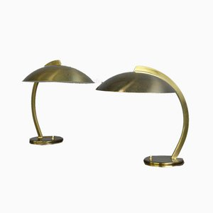 Bauhaus Brass Table Lamp from Hillebrand Lighting, 1930s