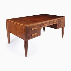 Art Deco French Walnut Desk, 1930s