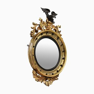 Antique Regency English Convex Mirror