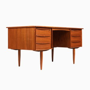 Mid-Century Danish Teak Desk by Svend Åge Madsen for Falster, 1960s