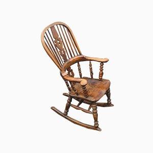 Oak Wheelback Reclining Chair, 1980s
