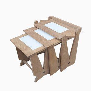 Tavolini ad incastro di Guillerme et Chambron per Votre Maison, anni '50