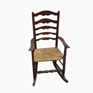 Oak Slat Back Rocking Chair, 1920s