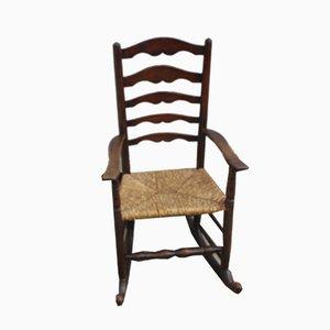 Oak Slat Back Rocking Chair, 1920s