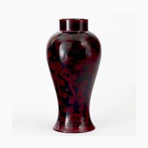 Antike Flambe Glasierte Vase von Hilda Carter für Bernard Moore, 1910er