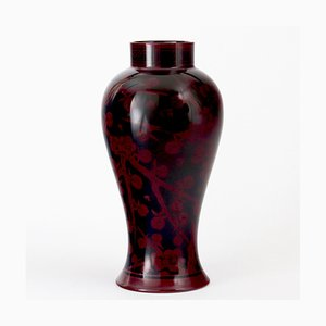 Antique Flambe-Glaze Vase by Hilda Carter for Bernard Moore, 1910s