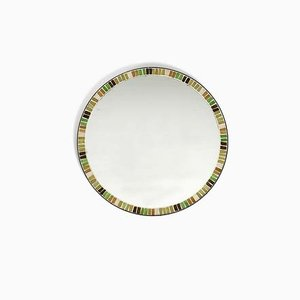 Mid-Century Round Mosaic Wall Mirror from Münchener Zierspiegel, 1960s