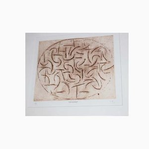 Turning and Turning Etching by Victor Pasmore, 1974