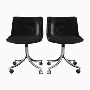 Italian Model Modus Side Chairs by Osvaldo Borsani for Tecno, 1970s, Set of 2