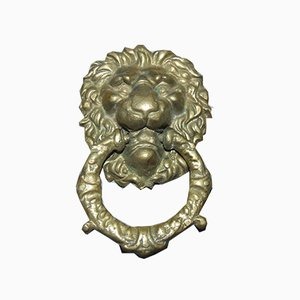 Vintage Brass Lion-Shaped Knocker
