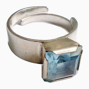 Skandinavischer Silber Ring NSE 1975 von Nils-Eric Södermark, 1970er