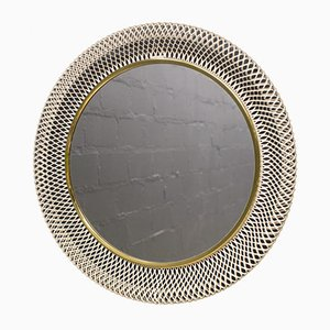 Round Wire Wall Mirror, 1950s
