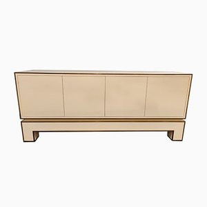 White Lacquered Credenza by Alain Delon, 1970s