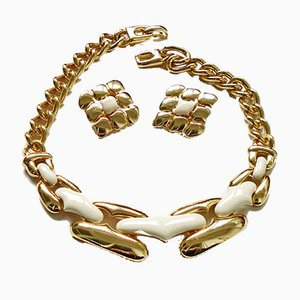 Ivory Emaille Parure by Helena Rubinstein, 1980s, Set of 3