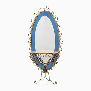 Mid-Century Italian Wrought Iron Hall Mirror by Pier Luigi Colli for Colli, 1950s