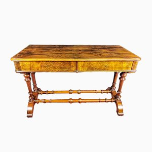 19th Century Victorian English Walnut Desk
