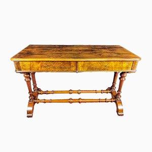 19th Century Victorian English Walnut Desk