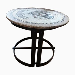 Vintage Round Mosaic Top Coffee Table