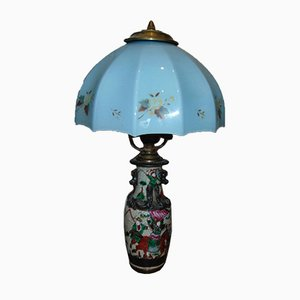 Art Deco Majolica Table Lamp