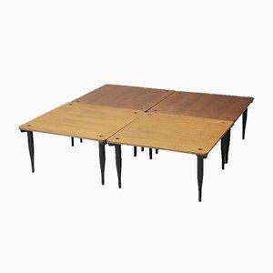 Tables Basses Mid-Century T8 par Vico Magistretti pour Azucena, 1950s, Set de 4