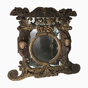 18th Century Wooden Mirror