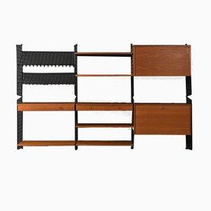 Teak Veneer String Shelf by Strinning, Kajsa & Nils ''Nisse'', 1950s