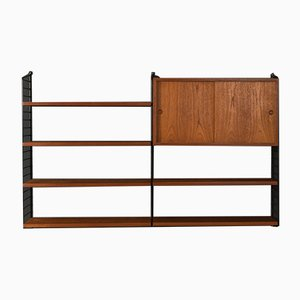 Teak Veneer String Shelf by Strinning, Kajsa & Nils ''Nisse'', 1950s