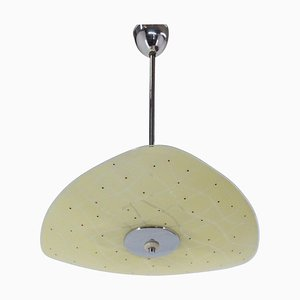 Mid-Century Glass Pendant Lamp from Zukov, 1960s