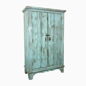 Antique Painted 2-Door Cupboard with Shelves