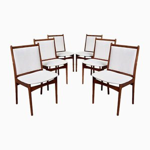 Mid-Century Danish Rosewood Dining Chairs from Jensen Furniture, Set of 6