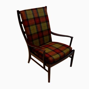 Tartan Wool Fireside Chair from Parker Knoll