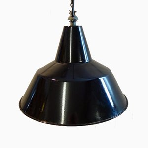 Factory Enamel Pendant Light by Reluma, 1960s