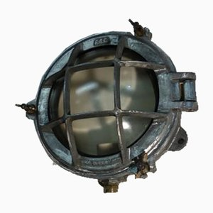 Aluminium Bulkhead Light by GEC, 1950s