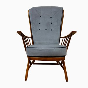 Evergreen Armchair in Grey Velvet from Ercol