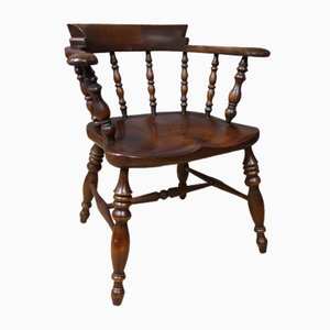 Victorian Solid Oak Captains Chair
