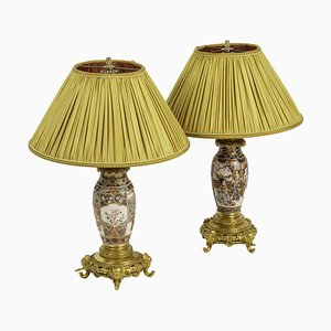 Table Lamps in Satsuma Earthenware and Gilt Bronze, 1880s, Set of 2