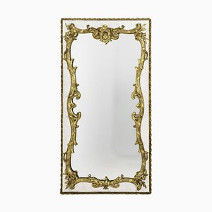 Louis XV Style Mirror in Lacquered Wood and Gilt Stucco, 1880s
