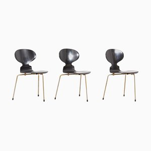 Ant Dining Chairs by Arne Jacobsen for Fritz Hansen, Denmark, 1950s, Set of 3