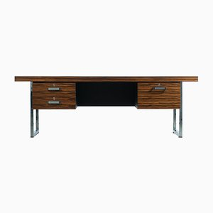 English Macassar Ebony and Chrome Desk by Trevor Chinn for Gordon Russell, 1970s