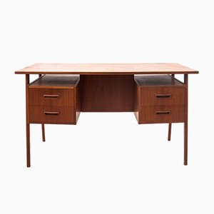 Danish Teak Desk with Floating Top, 1960s