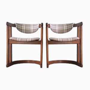 Mid-Century Danish Oak Chairs, 1950s, Set of 2